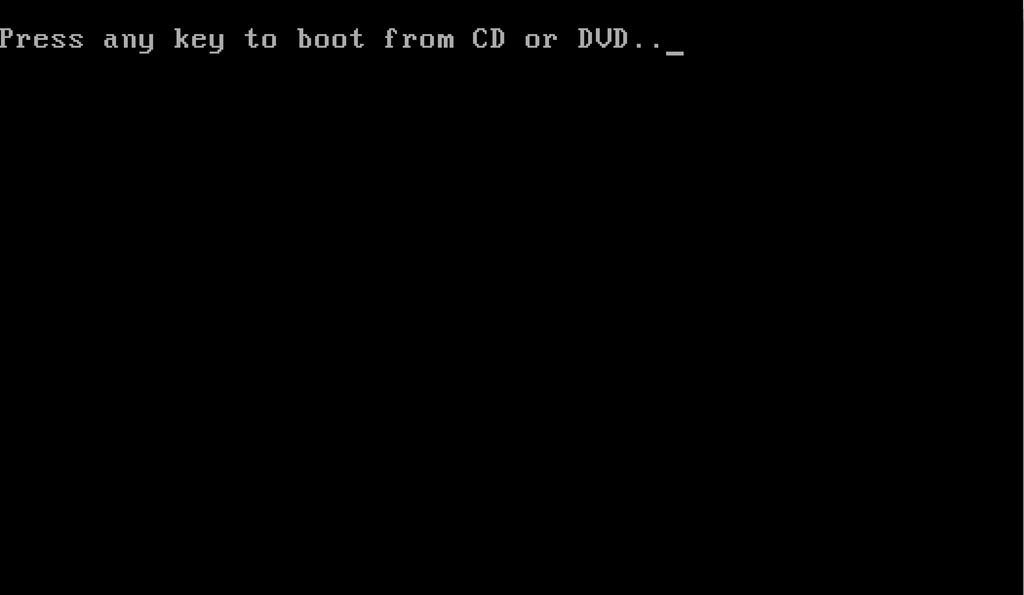 pressd any key to boot from CD or DVD
