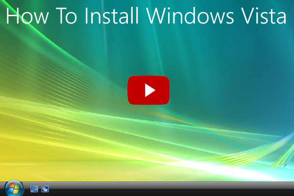 How to install Windows Vista