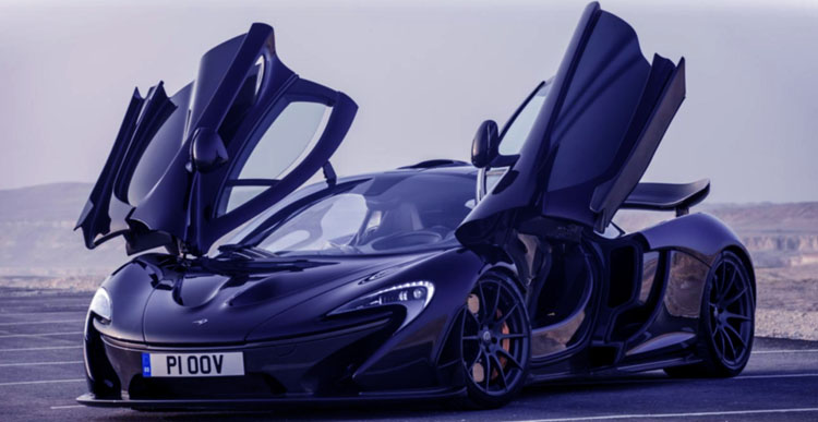 McLaren P1 with it doors open