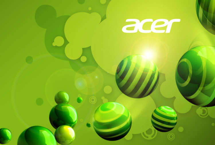 purple acer background with balls and 3d graphics