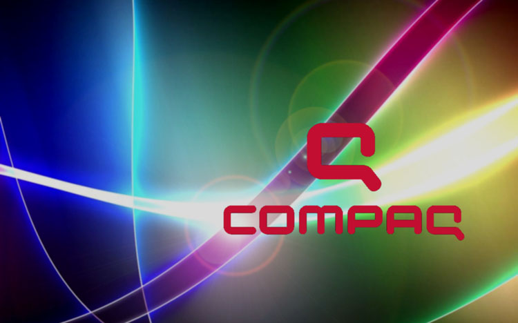 Multicoloured compaq desktop wallpaper