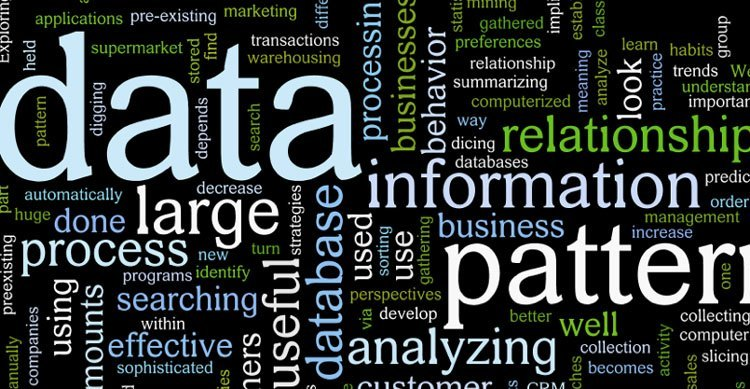 Words all describing different types of data and data mining