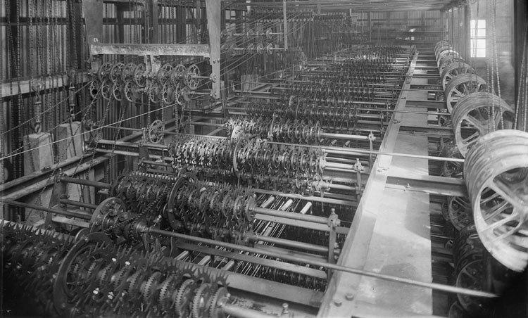 industrial revolution inside a mill