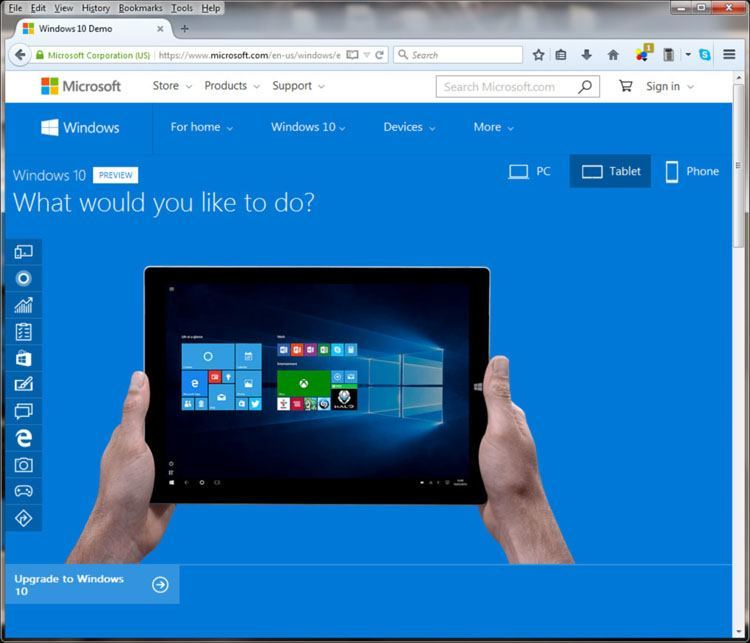 Windows 10 Tablet Demo