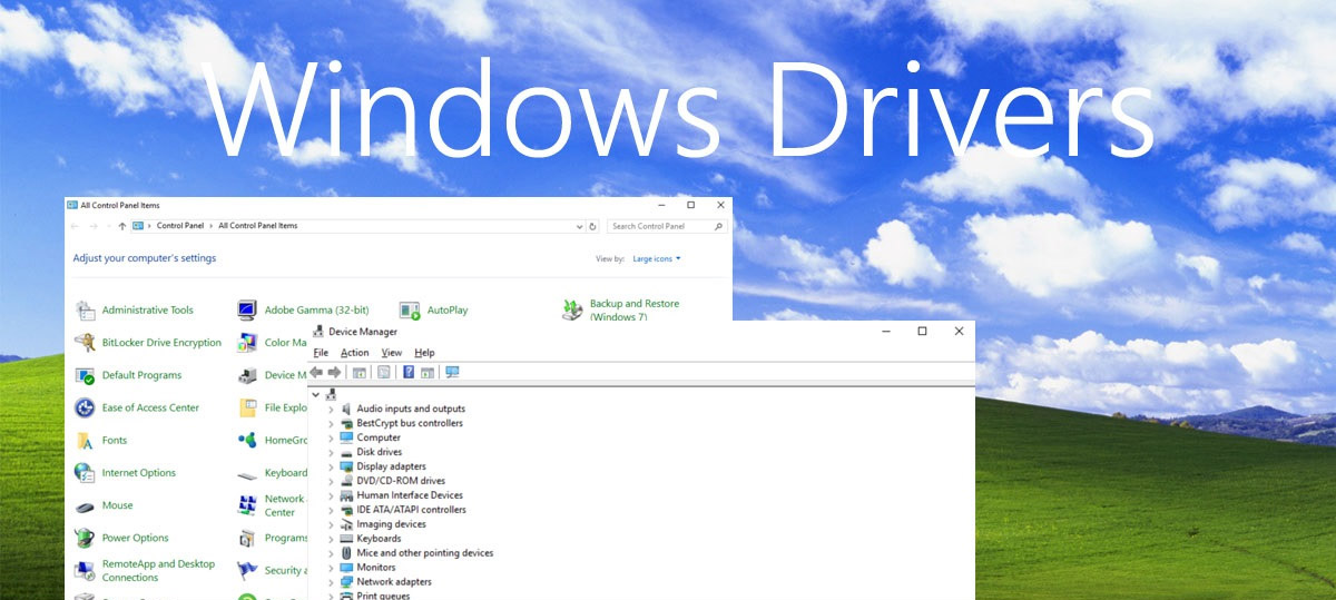 Install the Windows drivers