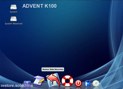 Advent K100 boot cd screen shot