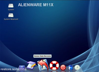 Alienware M11x boot cd screen shot