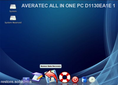 Averatec All-in-one Pc D1130ea1e-1 boot cd screen shot