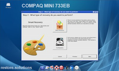 Compaq Mini 733EB data restore cd