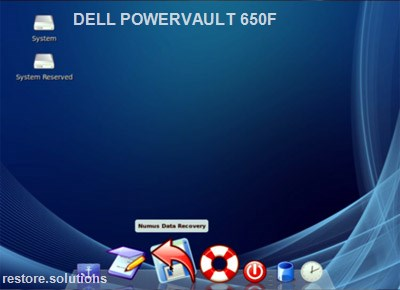 Dell PowerVault 650F boot cd screen shot