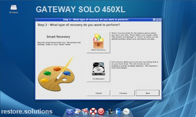 Gateway Solo 450XL data restore cd