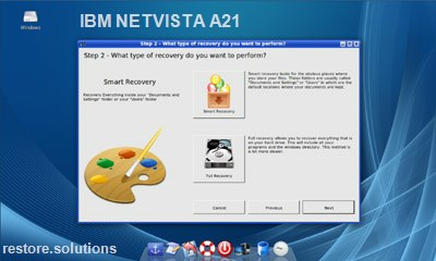 IBM netvista a21 data restore cd