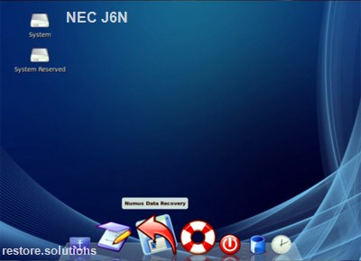 NEC J6n boot cd screen shot