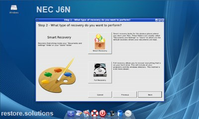 NEC J6n data restore cd
