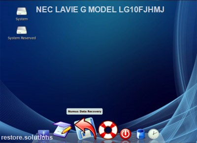 NEC LaVie G Model LG10FJHMJ boot cd screen shot