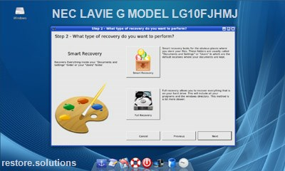 NEC LaVie G Model LG10FJHMJ data restore cd