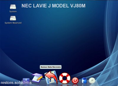 NEC LaVie J Model VJ80M boot cd screen shot