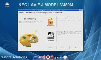NEC LaVie J Model VJ80M data restore cd