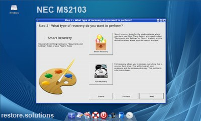 NEC MS2103 data restore cd