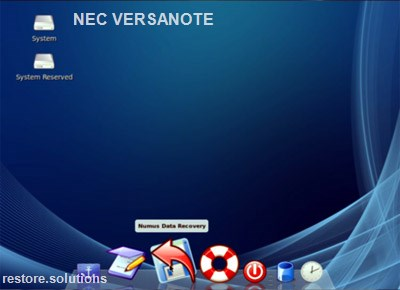 NEC VersaNote boot cd screen shot