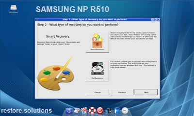 Samsung NP-R510 data restore cd