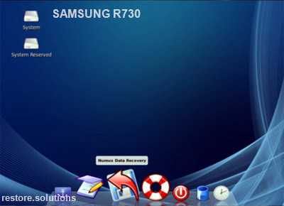 Samsung R730 boot cd screen shot
