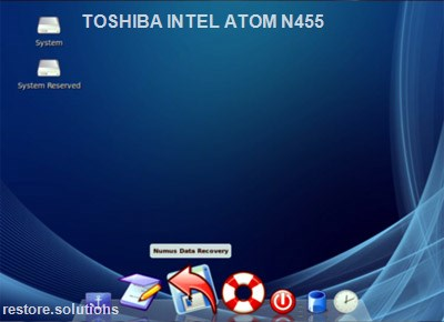 Toshiba Intel Atom N455 boot cd screen shot