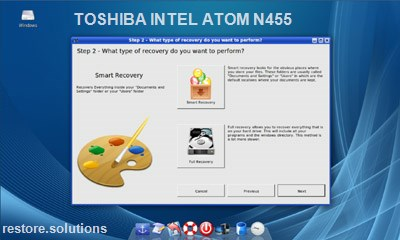 Toshiba Intel Atom N455 data restore cd