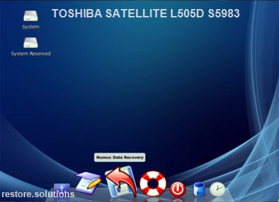 Toshiba Satellite L505D-S5983 boot cd screen shot