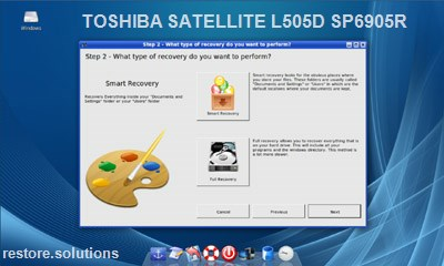 Toshiba Satellite L505D-SP6905R data restore cd
