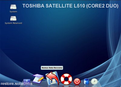 Toshiba Satellite L510 (Core2 Duo) boot cd screen shot