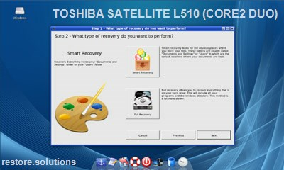 Toshiba Satellite L510 (Core2 Duo) data restore cd
