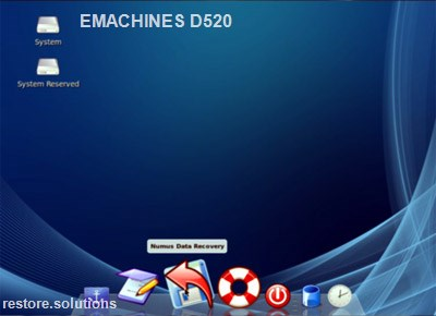 eMachines D520 boot cd screen shot