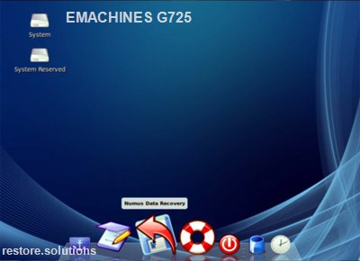 eMachines G725 boot cd screen shot