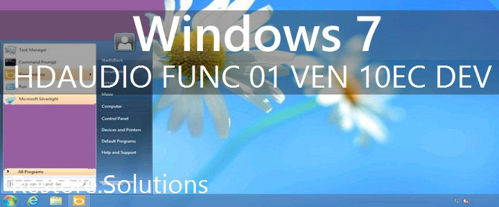 HDAUDIO\FUNC_01&VEN_10EC&DEV_0280 Windows 7 Drivers