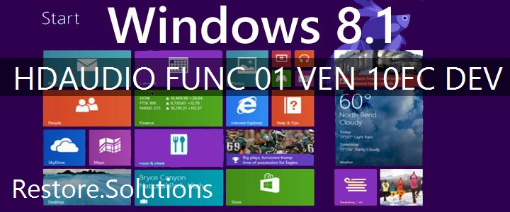 HDAUDIO\FUNC_01&VEN_10EC&DEV_0668 Windows 8.1 Drivers