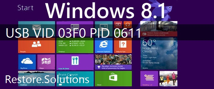 USB\VID_03F0&PID_0611 Windows 8.1 Drivers