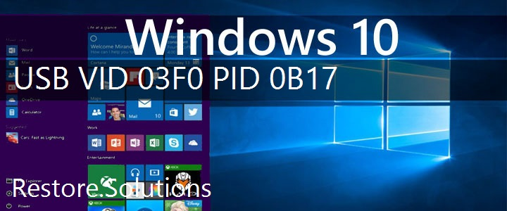 USB\VID_03F0&PID_0B17 Windows 10 Drivers