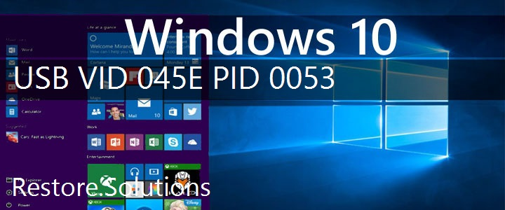 USB\VID_045E&PID_0053 Windows 10 Drivers