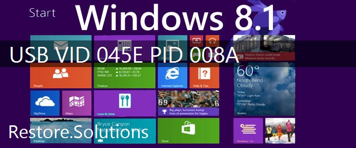 USB\VID_045E&PID_008A Windows 8.1 Drivers