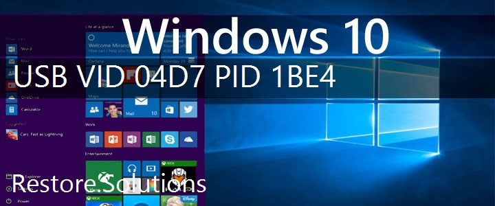USB\VID_04D7&PID_1BE4 Windows 10 Drivers