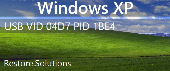 USB\VID_04D7&PID_1BE4 Windows XP Drivers