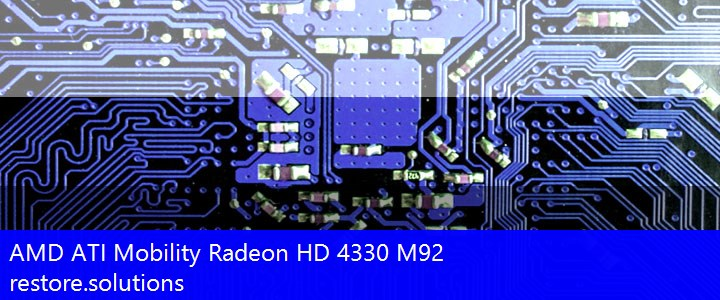 AMD ATI® Mobility Radeon HD 4330 M92 Graphics PCI\VEN_1002&DEV_955F Drivers