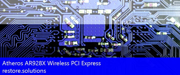 Atheros® AR928X Wireless PCI Express Wireless PCI\VEN_168C&DEV_002A Drivers