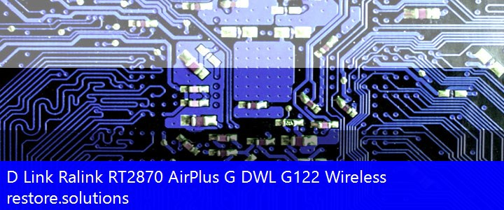 D Link® Ralink RT2870 AirPlus G DWL G122 Wireless Wireless USB\VID_07D1&PID_3C0F Drivers