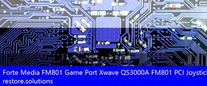 Forte Media FM801 Game Port (Xwave QS3000A FM801 PCI Joystick)