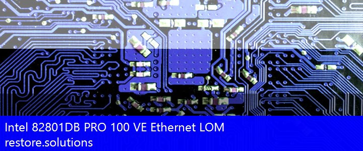 Intel® 82801DB PRO 100 VE Ethernet LOM Network PCI\VEN_8086&DEV_1039 Drivers