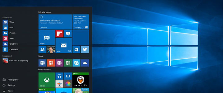 Blue Windows® 10 Desktop