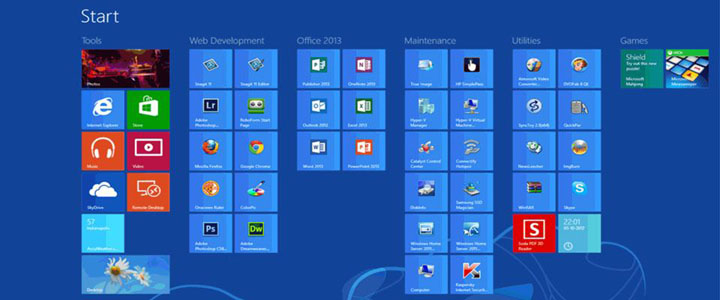 Standard Windows® 8 Desktop