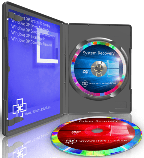 Restore Solutions Windows XP recovery media retail box